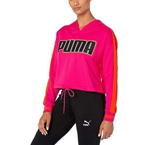 Puma Rebel Reload Cropped Hoodie Sweatshirt